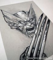 SNIKT charcoal drawing by DoomCMYK