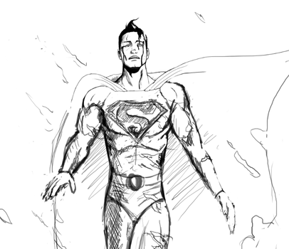 Superman - Cleanup process WIP by Gravehawk