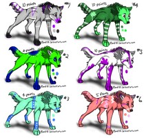 4-10 point Wolf Adoptables 1 by Okamay