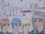 Congratulations on 1 Million Subscribers Aphmau! by Taytaytot658