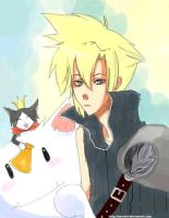 Cloud Strife and Cait Sith by Huraimi