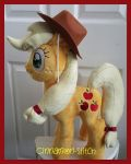 My little pony Plush Applejack Available by CINNAMON-STITCH