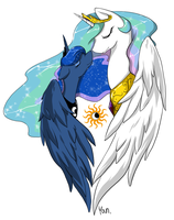 [MLP] Celestia and Luna by yoonny92
