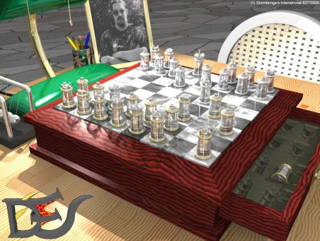 Chess Scene WIP by DFStormbringer
