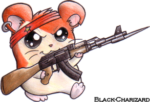 Evil communist hamster by Black-Charizard
