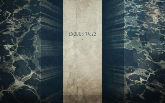 Exodus 14:22 by titian