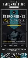 Retro Nights Flyer / Poster by frankschrijvers