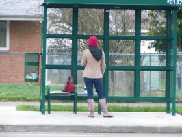 Waiting for the bus II by mebyrne57
