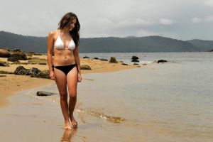 Emma L - bikini walk 1 by wildplaces