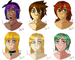 KH OC Girls Headshots Batch 1 by lita-bug