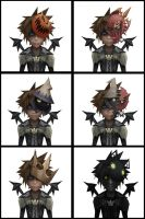 Sora's forms in Halloween Town by RoxasTsuna