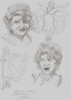 Michael Ball as Edna - sketches by ReveveR