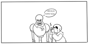 Sans annoying papyrus with a Kazoo [ANIMATED] by chibiggydesu55