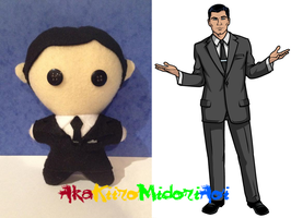 Archer Plushes: Sterling Archer by AkaKiiroMidoriAoi
