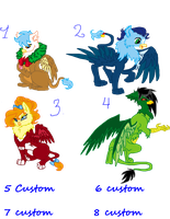 GRIFFIN ADOPTABLES WOOT!!!! xDD CLOSED by Sarahostervig