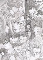 Death Note - the characters by fallenangels500