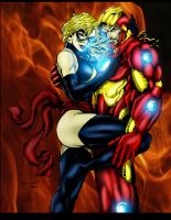 Ironman and Ms. Marvel by Ta2dsoul
