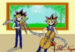 Music Themed Yugi and Yami by ninja-starz2