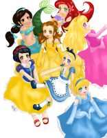 +DISNEY PRINCESS+ by aznt0mb01