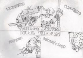 2012 Teenage Mutant Ninja Turtles Background by FlowerPhantom