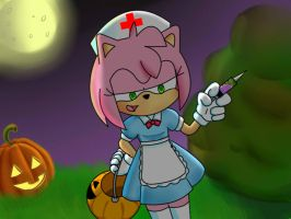 Halloween Amy Rose (CE) by NegiCake