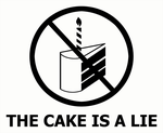Portal - The cake is a lie by caycowa