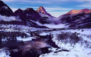 Snowy Mountains (Color) by KeithMeyerArt