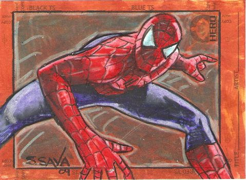 Spider-Man Sketchcard Charity by ssava