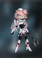 Amy with a gravity hammer by Great-5