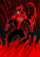 Wolverine Red Lantern 2 by Arevish