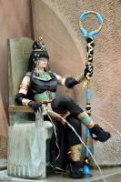 Bastet - the throne and the goddess - by NiKcKu
