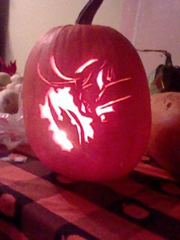 Loki Halloween Pumpkin 2014 by yuffb