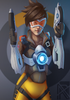 Overwatch - Tracer fanart by arxers