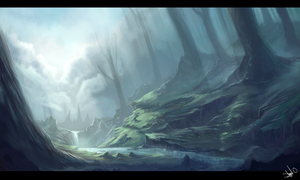 Landscape Painting 3 by RighteousYouth