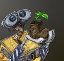 Wall-e Doodle by ButtercupBabyPPG
