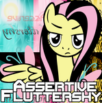 Assertive Fluttershy Album Cover by CaptainDerpy