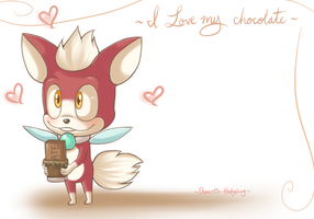 I love my chocolate by Domestic-hedgehog
