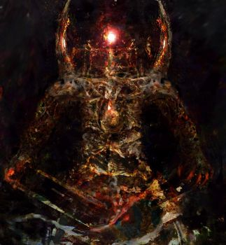 Lorkhan - The Dead God Birthed Anew by ezeleolos