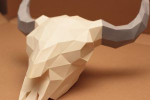 Bison Skull Papercraft V2 by Gedelgo