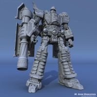 HD Megatron Clay Render 01 by Venksta