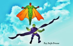 Vision vs Martian Manhunter by rafabruno0