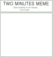 Two minutes meme BLANK by Amela-xD