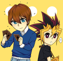 Lil Kaiba and Yugi by Boosify