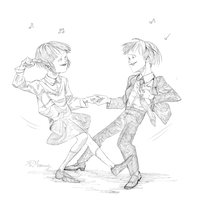 Frisk and Chara dance by Meammy