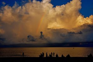 A Rainbow Proceeding the Storm by Chocrotes
