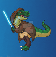 Jedi Master of the Cretaceous by Eligecos