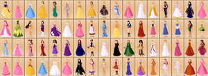 Disney Princess, Non Princess and Video Game by roseprincessmitia