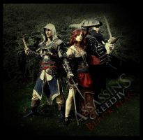 AC IV - Kenway, Bonny and Thatch cosplay by RBF-productions-NL