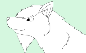 Wolf Lineart (MS Paint Friendly) by wolf-spirit13