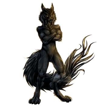 Naxther-(Wolfie form) by Amerelle